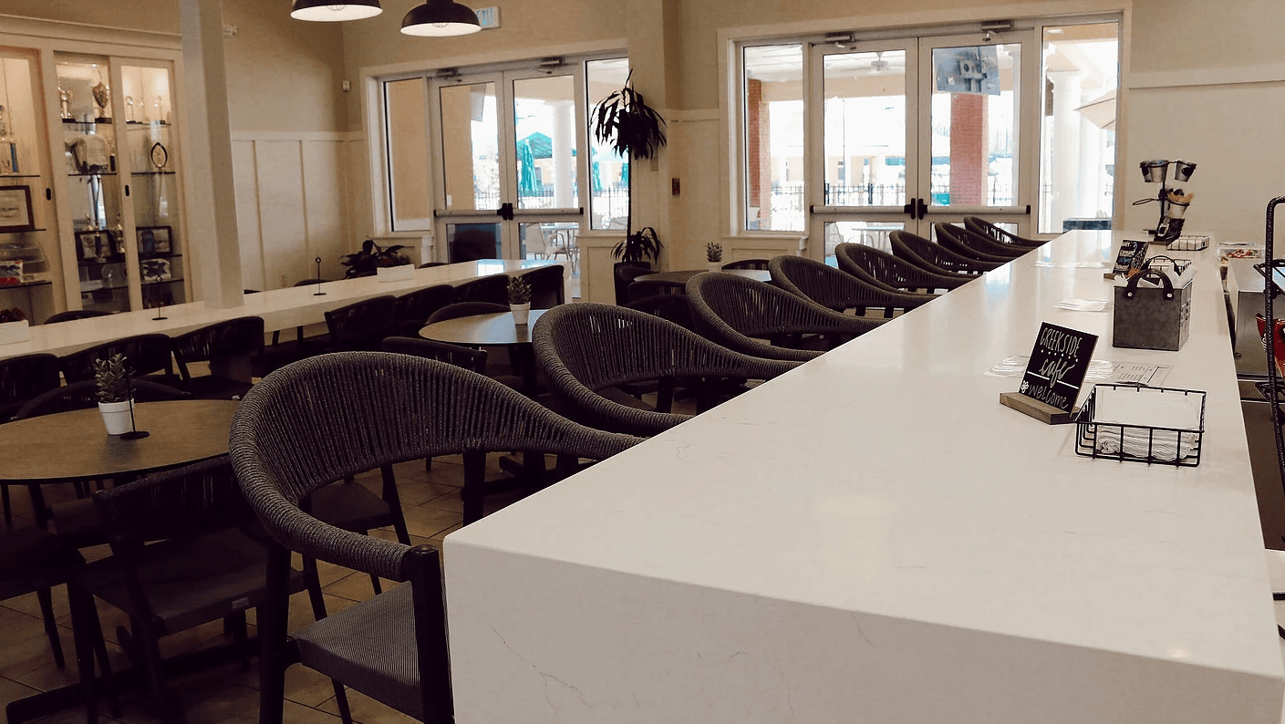 Bar with tables